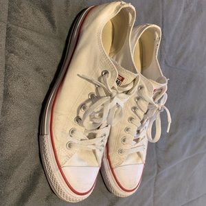 Converse low, white, size 11 mens